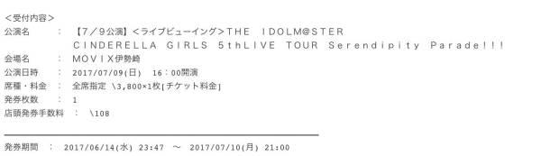 アイドルマスターシンデレラガールズ 5thライブ ライブビューイング グッズの画像