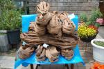 ★国産<宮城県産>★山葡萄の皮(樹皮)☆良質☆:約4kg~かごバッグ編み材料★増量おまけ付★送料無料