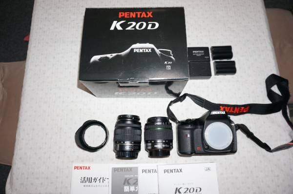 PENTAX K20D本体(美品)+レンズ2本