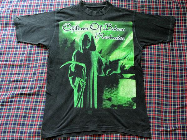 チルドレン・オブ・ボドム バンドTシャツ Lサイズ ヘイトブリーダー メタルTシャツ クリーニング済 チルボドChildren Of Bodom Hatebreeder