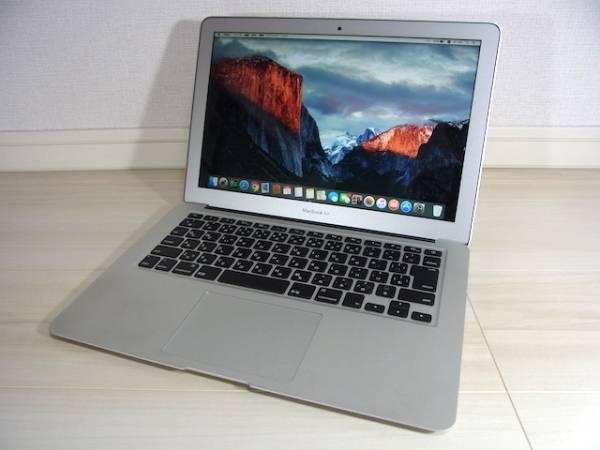 1円~ 13.3インチ APPLE MacBook Air A1466 Mid2013 MD760J/A SSD128GB メモリ4GB 美品・動作良好
