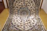 高級天然シルク100% ペルシャ柄絨毯 新品未使用 157×247 訳あり アウトレット クリーム色