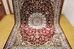高級天然シルク100% ペルシャ柄絨毯 新品未使用 157×