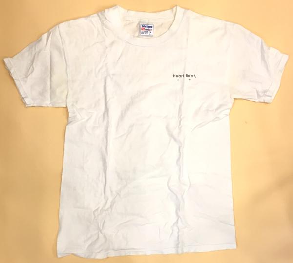 ヤン富田 Heart Beat 心拍 Tシャツ United Sports Heavy-T Mサイズ 身幅約46cm 着丈約69cm クリーニング済
