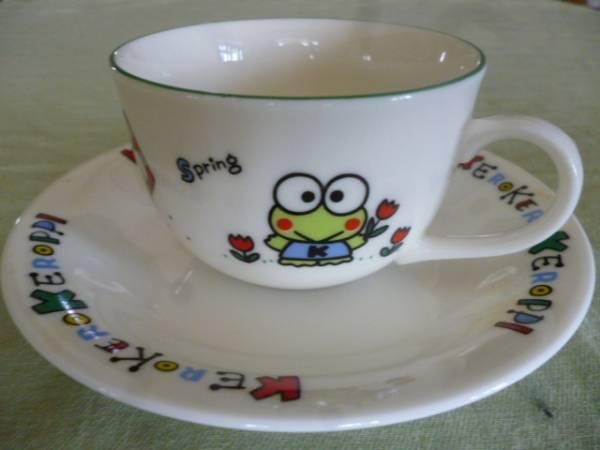 レトロ レア★けろけろけろっぴ 1990年 陶器のカップ&ソーサー サンリオ★未使用 グッズの画像