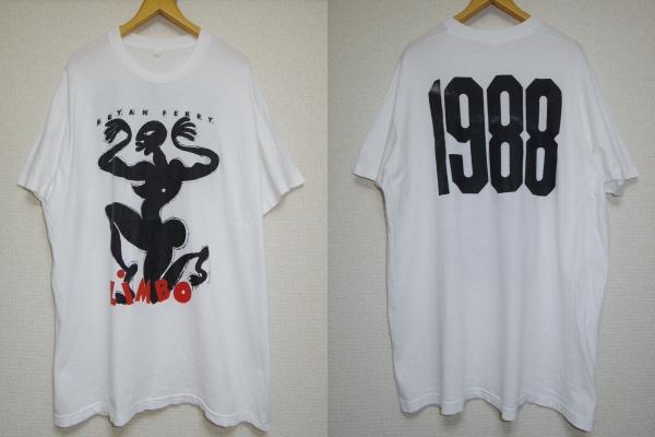 ビンテージ 80s■BRYAN FERRY ブライアン フェリー■LIMBO 1988 Tシャツ■白 ホワイト ビッグ サイズ■ROXY MUSIC MICHAEL ROBERTS cd dvd