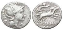 紀元前 古代ローマ 共和政ローマ 2頭立て戦車ビガ(戦闘用馬車) 銀貨 3,63 g / 18 mm