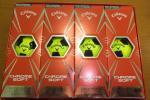 キャロウェイ クロムソフト トゥルービス イエロー×黒 新品 1ダース(12球) 新品 Callaway Chrome Soft truvis クローム サッカーボール