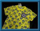 ◆ミニオンズ UNIVERSAL ミニオン◆半袖Tシャツ 新品タグ付き ワッペン付×総柄 キッズ◆【130cm】◆イエロー USJ
