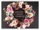 pretty flowerお洒落シックな色合いの華やかプリザーブド薔薇リース