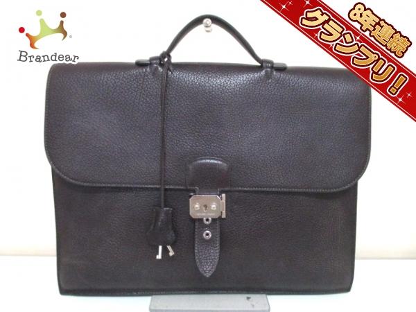 エルメス ビジネスバッグ サックアデペッシュ38 ショコラ トゴ