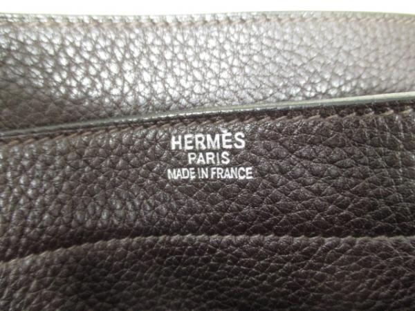 エルメス ビジネスバッグ サックアデペッシュ38 ショコラ トゴ_画像6