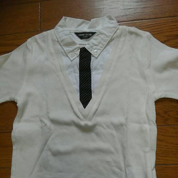 コムサイズム 半袖カットソー110㎝ ショートパンツ100㎝ 2枚セット 中古