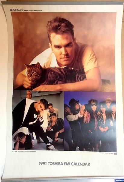 1991東芝EMI カレンダー モリッシー,ドゥービー,ボウイ,ハート