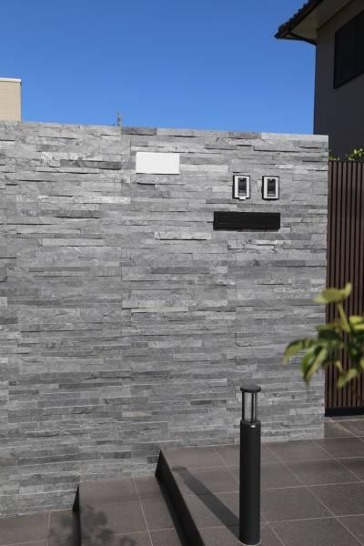 ●1●DIYで簡単に石張りの壁 張るだけで簡単 ●  パネルSS