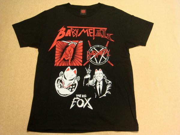 美品 BABYMETAL THE BIG FOX Tシャツ Sサイズ 幕張メッセ 2014 四天王 Big4 ベビメタ ライブグッズの画像