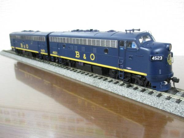 アメリカ鉄道 Walthers Proto F7 A+B B&O 貨物牽引機関車 DC,DCC w/Sound A-Unit #4523 + B-Unit #5475 Both Powered NO525011