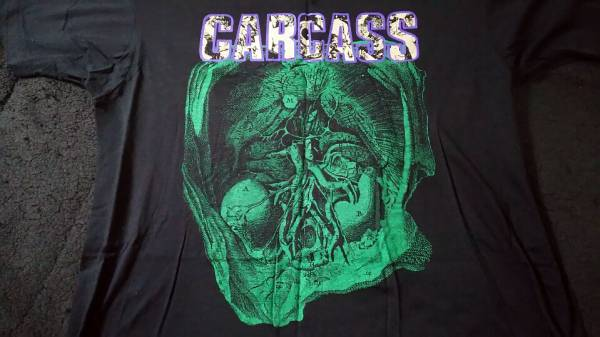 CARCASS 1991年 ツアー ビンテージ T シャツ Napalm death S.O.B S.O.D Deicide cannibal corpse morbid angel dismember entombed