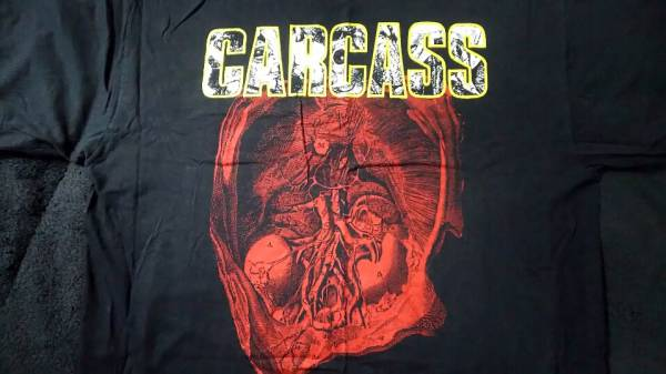 CARCASS 1991年 ビンテージ カーカス シャツ Terrorizer Repulsion benediction aborted suffocation deicide death metal bolt thrower