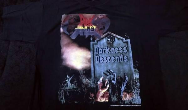 DARK ANGEL 1986年 2002年 T シャツ Overkill Exodus sepultura Kreator forbidden Havok sodom destruction demolition hammer