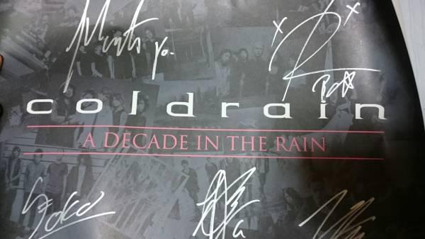 coldrain A DECADE IN THE RAIN TOUR メンバー直筆サイン入りポスター