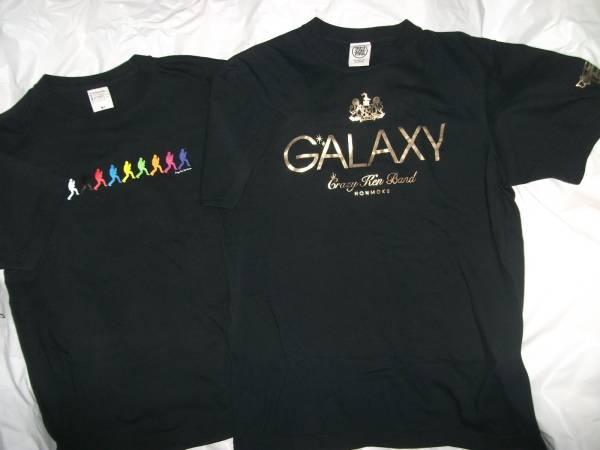 クレイジーケンバンド CRAZY KEN BAND GALAXY ゴールド ロゴ 横山剣 シルエット Tシャツ