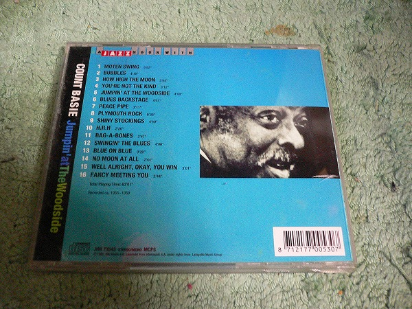 Y110 CD カウント・ベイシー Jumpin' at The Woodside 16曲入り COUNT BASIE  海外版(輸入盤)_画像2