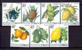 ★☆★コンゴ人民共和国 1974 果物 7種完 未使用OH★☆★