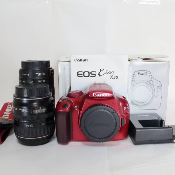 Canon EOS Kiss X50 レンズ2個、Wi-FiSDカード付き