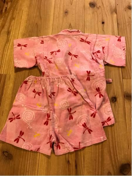 女の子用 ベビー服 子供服トンボ柄 甚平 浴衣 日本製 90㎝ ピンク お祭りなどに_画像2