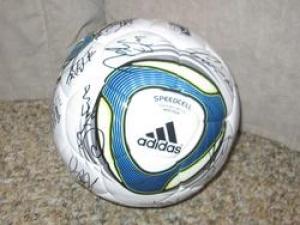 2011年 女子ワールドカップ なでしこジャパン 直筆サイン入りサッカーボール グッズの画像