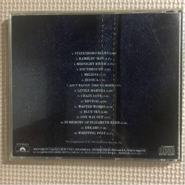 オールマン・ブラザース・バンド コレクション a decade of hits 1969-1979 国内盤 帯付き CD_画像2