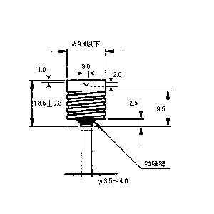 日本製豆電球の口金部分です型式Eー10LEDランプの製作などに送料全国一律普通郵便120円_画像2