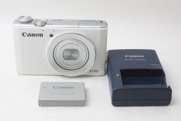 ★新品級★ Canon キヤノン PowerShot S110 ホワイト 大人気コンパクトカメラ♪ @2511