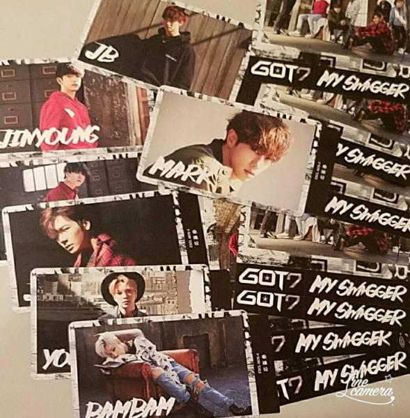 GOT7 MY SWAGGER 応募券 トレカ 7枚&タワレコステッカー7枚セット ライブグッズの画像