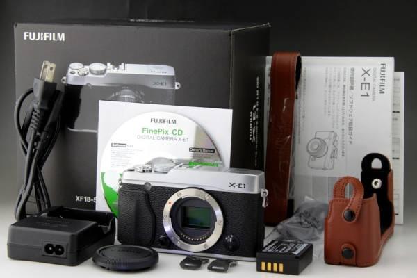 美品 FUJIFILM X-E1 ボディ 電子ビューファインダー搭載 1630万画素 豪華特典+保証残付き