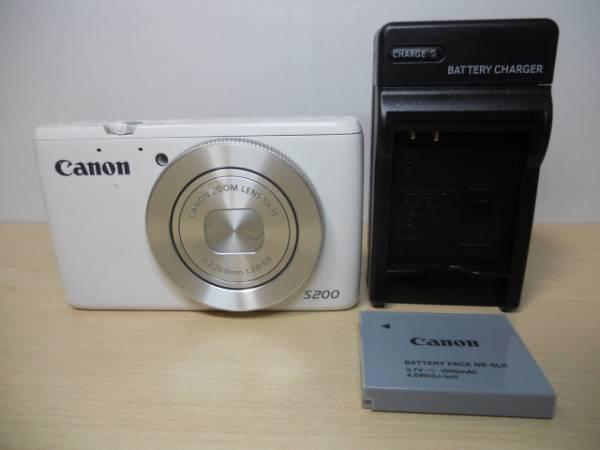 中古品◆Canon PowerShot S200 (1010万画素/光学5倍)