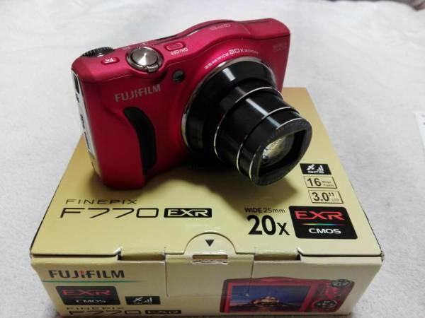 ☆☆ 富士フイルムデジタルカメラ FinePix F770EXR 1600万画素 レッド ☆☆ 【動作品、美品】