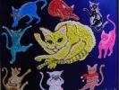 ≪国美協≫佐和山あみ、『ねこ・猫』、油彩画、F20号:72,7cm×60,6cm、油絵一点物、新品高級油彩額付、直筆サイン・真作保証付