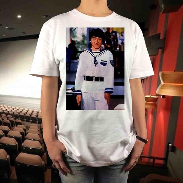 新品 ジャッキーチェン 香港映画Tシャツ ムービー サモハンキンポー ユンピョウ ブルースリー 酔拳 スパルタンX プロジェクトA カンフー グッズの画像