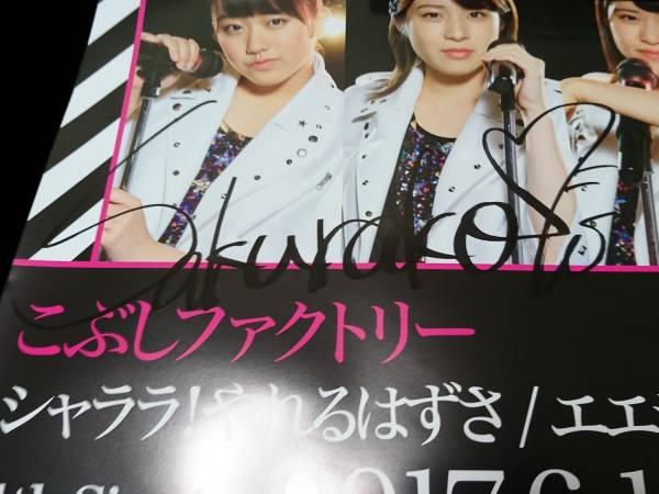 こぶしファクトリー 4thシングル サイン入りポスター 和田桜子 ライブグッズの画像