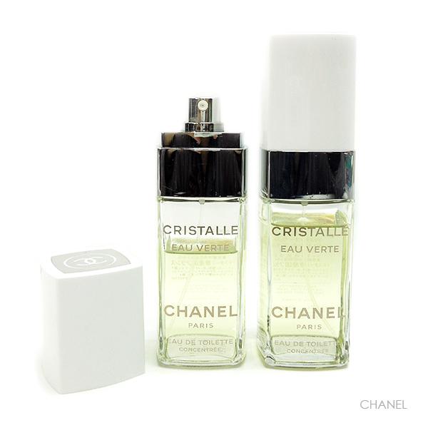 CHANEL 香水 100ml 2本セット クリスタル オー ヴェルト オードゥ トワレット コンサント