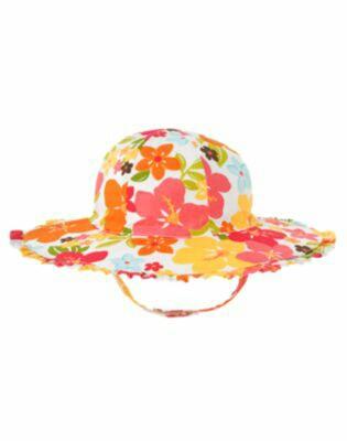 送料0新品ジンボリー《12-24》即決!トロピカルお花の帽子ハット80-90_画像1