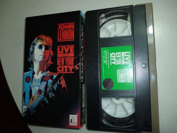 ★レア:ビートルズ・ジョンレノン&オノ・ヨーコ 1972年ニュヨークLIVE/VHS東芝EMIテープ ライブグッズの画像
