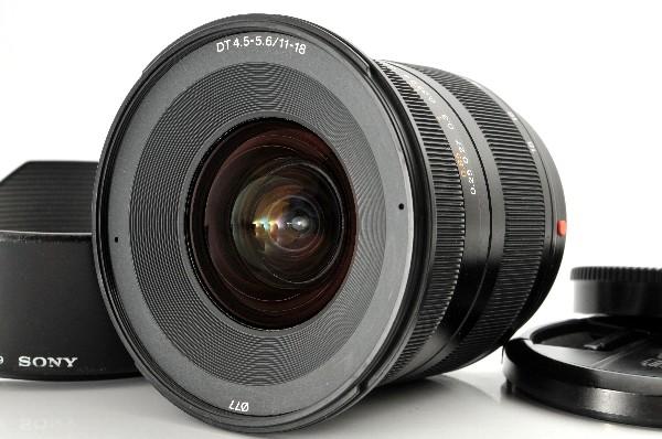【良品】SONY DT 11-18mm F4.5-5.6 (SAL1118) SONY超広角ズームレンズ Aマウントにも #1619