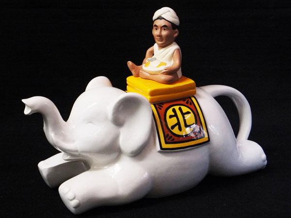 K769 北野印度会社 北野武 陶器 ポット レトロ 当時物 カレー インド ビートたけし インテリア コレクションにも!