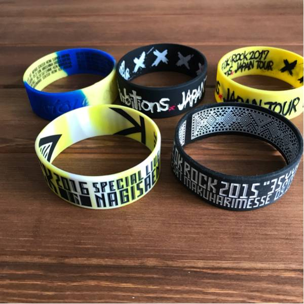 ONE OK ROCK ワンオクロック ラバーバンド5個セット/渚園 35xxxv JAPAN TOUR 幕張限定 Ambitions JAPAN TOUR
