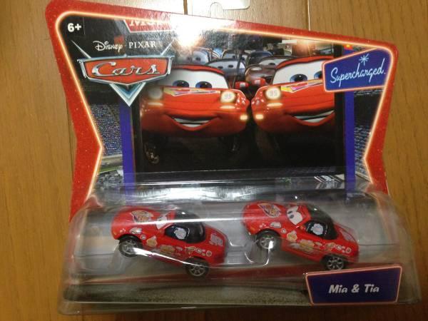 DISNEY ディズニー ピクサー カーズ CARS Mia & Tia 新品未開封 PIXAR ミア ティア ディズニーグッズの画像