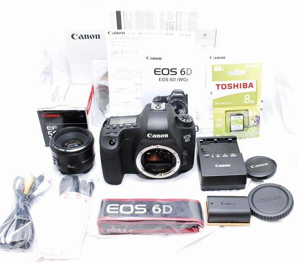 【超美品・メーカー保証書等付属品完備の豪華セット】Canon キヤノン EOS 6D EF 50mm f/1.8 Ⅱ