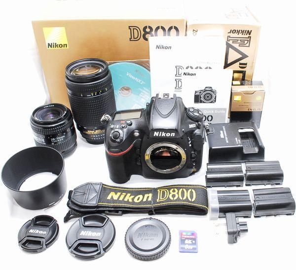 【豪華セット】Nikon ニコン D800 AF NIKKOR 28-70mm 70-300mm Wレンズ 動作絶好調